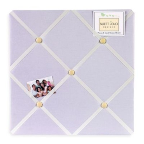 Sweet Jojo Designs Dragonfly Dreams Fabric Memo Board in Purple