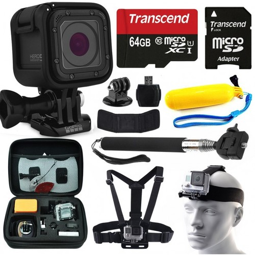 GoPro HERO5 Session + 64GB Essential Accessory Bundle Kit for Action Camera