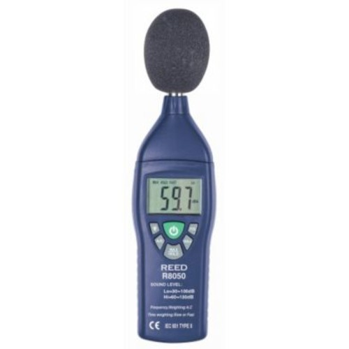 REED R8050 Sound Level Meter, Type 2, 30 to 130 dB