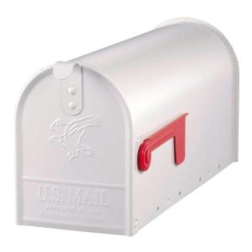 Gibraltar Mailboxes Elite Medium Capacity Galvanized Steel White, Post-Mount Mailbox, E1100W00 [White]