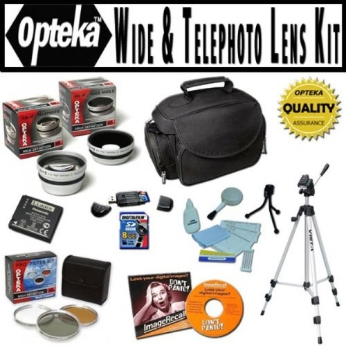 Opteka Ultimate Accessory package For Panasonic Lumix DMC-LX5 Digital Camera, Package Includes 0.45 Wide Angle Lens, 2.2