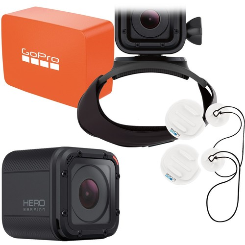 GoPro - Surf Bundle - HERO Session HD Waterproof Action Camera with Surfboard Mounts, Floaty Flotation Device & The Strap Mount