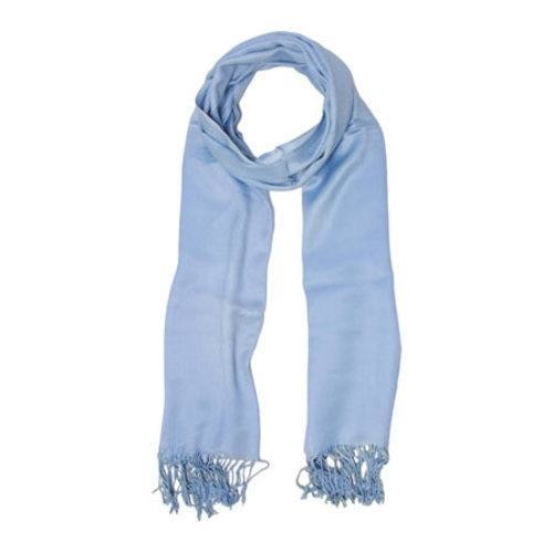 Women's SAACHI Solid Satin Scarf Blue