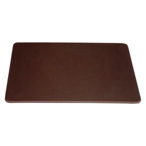 Dacasso Chocolate Brown Leatherette Conference Table Pad, 17 by 14-Inch [Chocolate Brown]