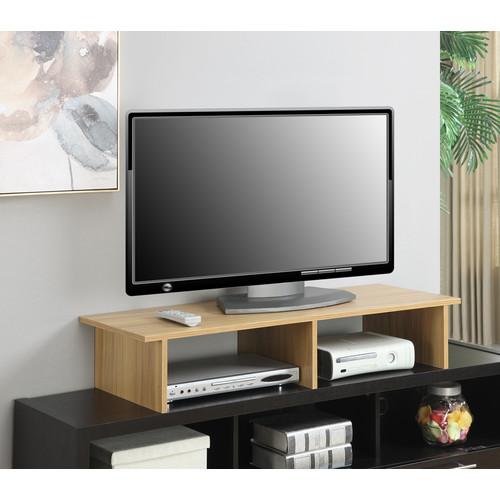 Convenience Concepts Large Monitor Riser, Light Oak