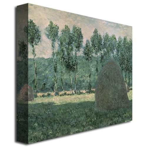 18x24 inches Claude Monet ' Haystacks near Giverny, 1884-89' Canvas Art