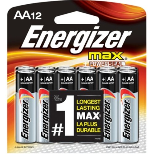 Eveready Energizer Alkaline Battery, Aa (EVEE91BP12)