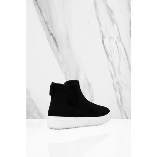 Steve by Steve Madden Coal Black Suede High Top Sneakers