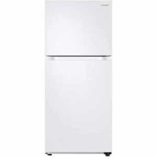 Samsung 18 cu.ft. Capacity Top Freezer Refrigerator with FlexZone - White