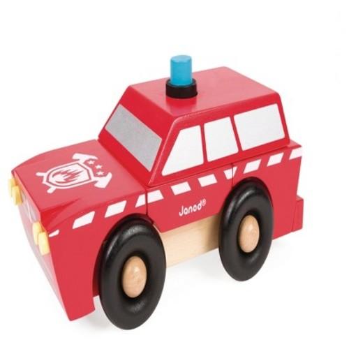 Janod Fireman SUV Magnet Kit - 9 Piece