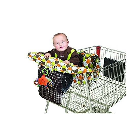 J is for Jeep 2-in-1 Shopping Cart and High Chair Cover, Universal Size, Baby Grocery Cart Cover, Infant High Chair Cover, Machine Washable, Safety Harness, Folds into Handbag, Pocket for Essentials, Cart, Cover, Toddler
