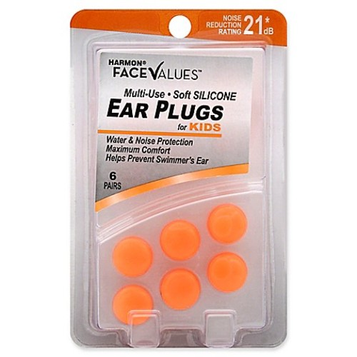Harmon Face Values 6-Count Kids Multi-Use NRR 21 dB Soft Silicone Ear Plugs