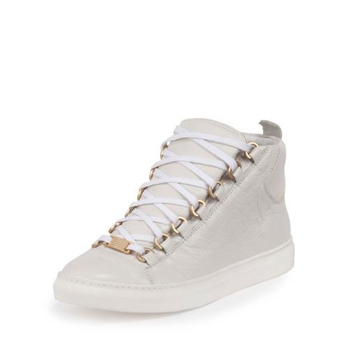 BALENCIAGA Arena Leather High-Top Sneaker