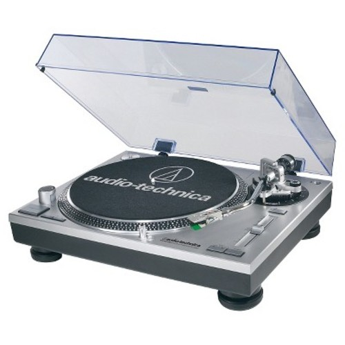 Audio-Technica AT-LP120-USB Direct-Drive Professional Turntable in Silver [Silver, AT-LP120-USB Turntable]
