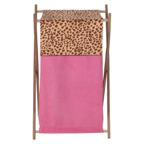 Sweet Jojo Designs Cheetah Girl Laundry Hamper in Pink