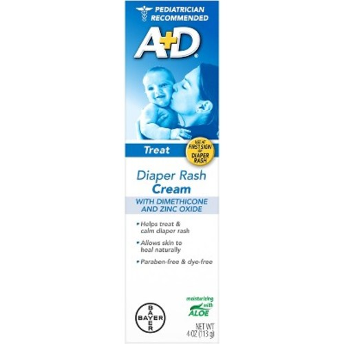 Bayer A+D Treat Diaper Rash Cream, 4 oz