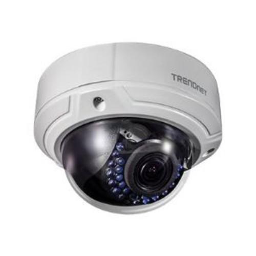 TRENDnet TV IP341PI - Network surveillance camera - dome - outdoor - vandal / weatherproof - color (Day&Night) - 2 MP - 1920 x 1080 - 1080p - vari-focal - audio - composite - LAN 10/100 - MJPEG, H.264