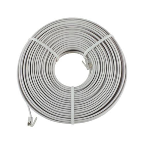 GE 100 ft. White Telephone Line Cord