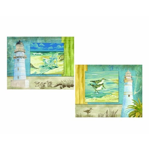 Plaid Creates Paint By Number Studio Series Kit (11 by 14-Inch), 21725 Beachside (Set of 2)