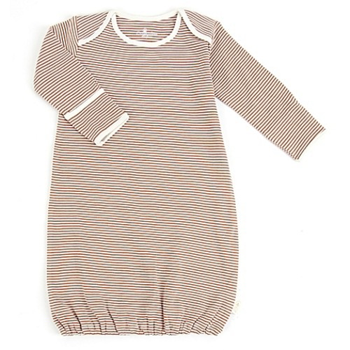 Tadpoles by Sleeping Partners Size 0-6M Organic Cotton Sleep Gown in Cocoa
