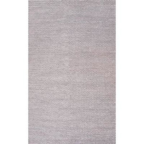 nuLOOM Chunky Woolen Cable Light Grey 6 ft. x 9 ft. Area Rug