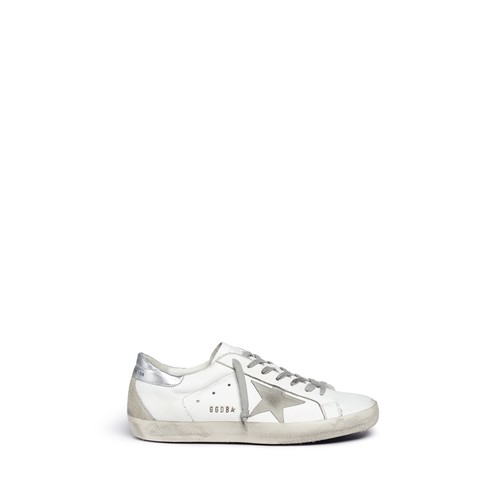 'Superstar' brushed leather sneakers