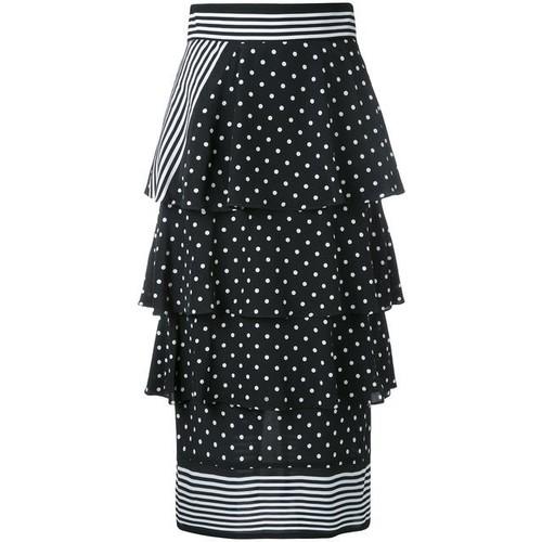 STELLA MCCARTNEY Polka-Dot Print Silk Skirt