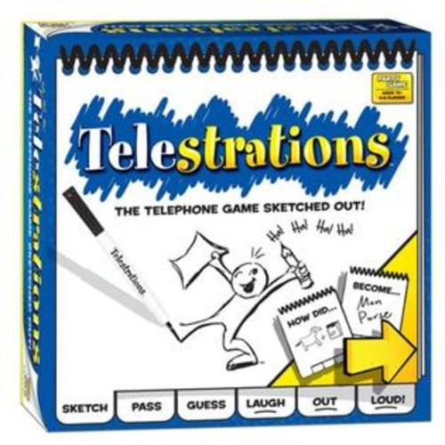 USAopoly Telestrations 4 To 8 Player Party Game