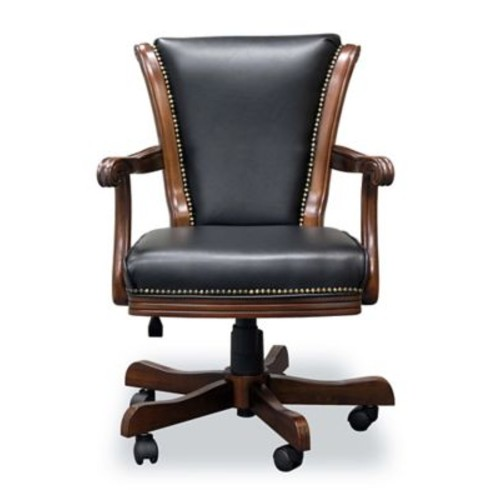 Darby Home Co Mont V-Back Executive Chair; Warm Chestnut