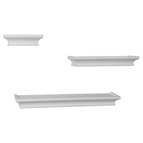 Danya B. Cornice Ledge Shelves  Set of 3  White
