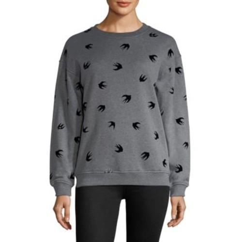MCQ ALEXANDER MCQUEEN Bird Print Banded Sweatshirt
