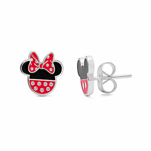 Disney Mickey And Minnie Sterling Silver Stud Earrings - JCPenney