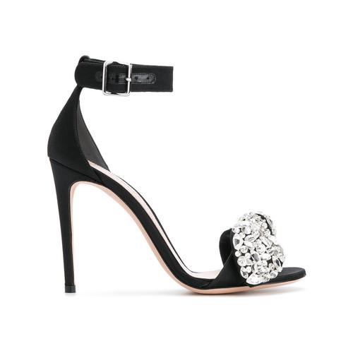 embellished bow sandals