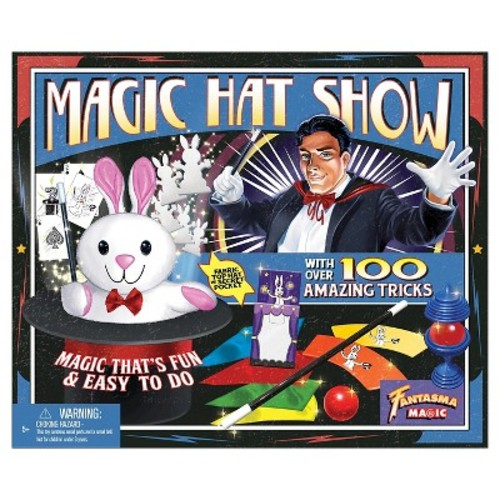 Fantasma Toys Retro Magic Hat Show  100 Fun and Easy Tricks  Includes Fabric Top Hat with Secret Pocket  Made with Small Hands in Mind  For Ages 5 and Up
