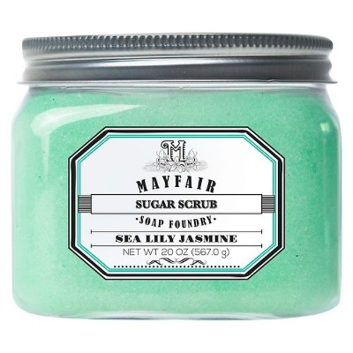 Mayfair Soap Foundry sea lily jasmine sugar scrub 20 oz