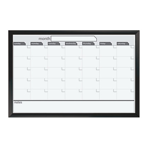 Office Depot Brand Monthly Magnetic Dry-Erase Planner Board, 36