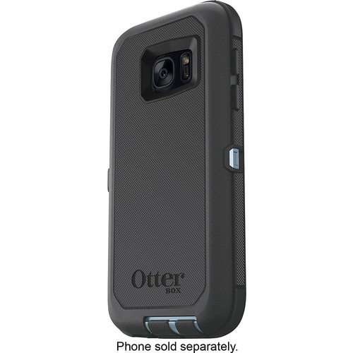 OtterBox - Defender Series Case for Samsung Galaxy S7 Cell Phones - Blue, Gray