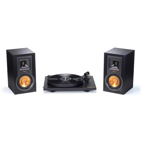 Klipsch R-15PM and Pro-Ject Turntable Package Turntable and Bluetooth powered speakers