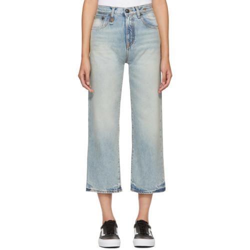 R13 Blue Camille High-Rise Jeans