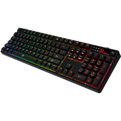 TteSports by Thermaltake POSEIDON Z RGB Mechanical Gaming Keyboard (Brown Switch Edition) - Black