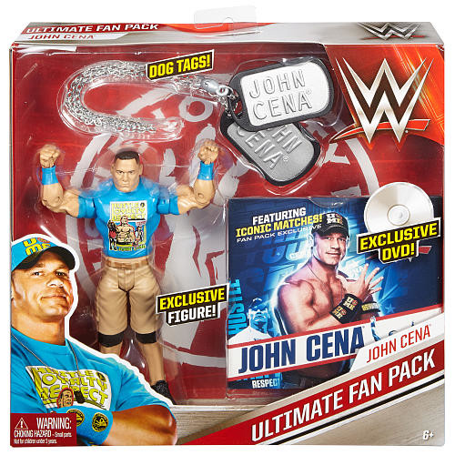 WWE Ultimate Fan Pack 6 inch Action Figure with DVD - John Cena