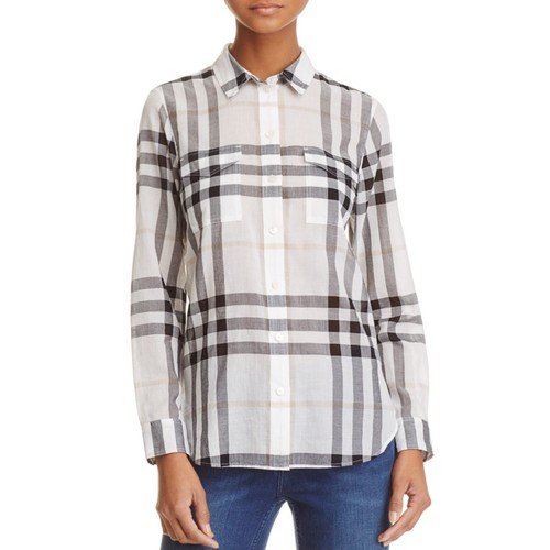 BURBERRY Check Print Button-Down Shirt - 100% Exclusive