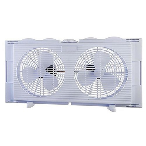 BoostWaves 6 in. High Velocity 2-in-1 Double Window Fan Horizontal Vertical Fit Energy Efficient