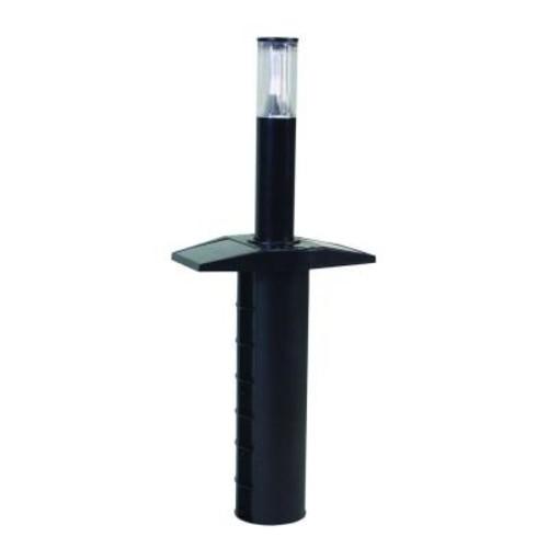 Solar IQ Outdoor Black Retractable Solar Pathway Lights (Set of 2)