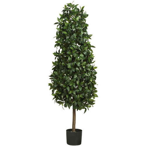 Nearly Natural 5' Sweet Bay Pyramid Silk Tree