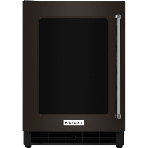 KitchenAid - 5.0 Cu. Ft. Mini Fridge - Black stainless