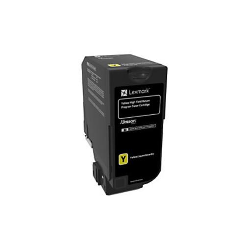 Lexmark Unison High-Yield Return Program Toner Cartridge, CS725, Yellow (74C1HY0)