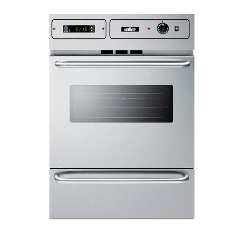 Summit 24 in. Single Gas Wall Oven in Stainless Steel