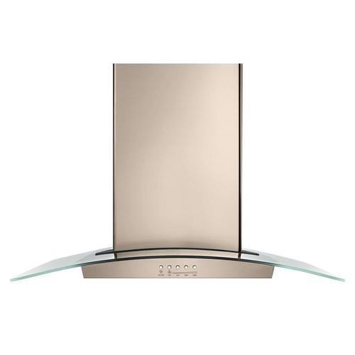 30 in. Modern Glass Wall Mount Range Hood in Sunset Bronze