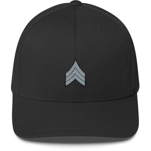 Embroidered Flexfit Sergeant Stripes Low Profile Cap